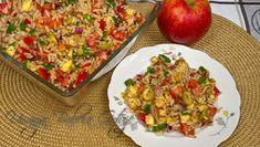 Sałatka z ryżem tuńczykiem i pomidorami Fried Rice, Fries, Ethnic Recipes, Food, Cholesterol, Diet, Essen, Meals, Nasi Goreng