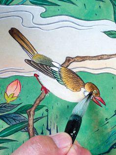 이문성 작가와 함께하는 궁중화조도 그리기 Ⅲ | 월간민화 Korean Painting, Miniatures, Bird, Animals, Crafts, Animales, Manualidades, Animaux, Birds