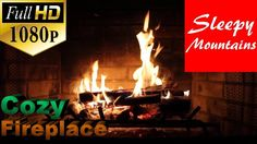 Cozy Fire In The Fireplace | To Fall Asleep To | Relieve Stress | Medita...