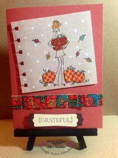 Autumn, Fall, Harvest, pumpkins, grateful, card