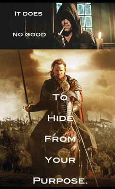 Aragorn -- see, this always annoyed me in the movie - the way they portrayed him as avoiding his duty to be king. totally didn't get that in the book...