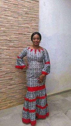 Robe pour dame African Fashion Ankara, Latest African Fashion Dresses, African Print Fashion, Africa Fashion, Long African Dresses, African Print Dresses, African Traditional Dresses, African Design, African Attire