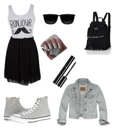 """""""Bonjour ˘˘"""" by zina1002 ❤ liked on Polyvore featuring Converse, Moscot, Victoria's Secret, Hollister Co., Chanel, women's clothing, women's fashion, women, female and woman"""