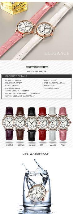 SANDA P206 Kvinner Quartz Watch Quartz Watch, Women Jewelry, Watches, Personalized Items, Lady, Style, Fashion, Swag, Moda