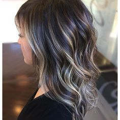 511 Likes 11 Comments Cleveland Hair Coryn Neylon ( on Asian Hair Highlights, Black Hair With Blonde Highlights, Black Hair Ombre, Ombre Hair Color, Belage Hair, Hair Dos, Covering Gray Hair, Balayage Ombré, Mom Hairstyles