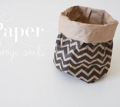 Best DIY Projects For Home Decorating: Paper Storage Sacks...