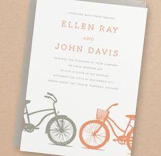INSTANT DOWNLOAD - Bicycles - DIY Printable Wedding Invitation Suite. $25.00, via Etsy.