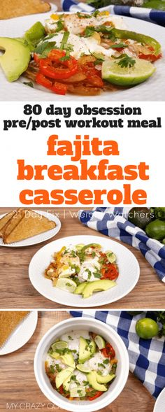 This Instant Pot Fajita Breakfast Casserole is the perfect quick breakfast for your busy morning! A 21 Day Fix Breakfast Casserole can help you start the day off right with a no yellow breakfast! This is a great 80 Day Obsession pre-workout recipe, too–just add some wheat toast! 80 Day Obsession Post Workout Meal | #21dayfix #80dayobsession #80do #beachbody #instantpot #casserole #breakfast