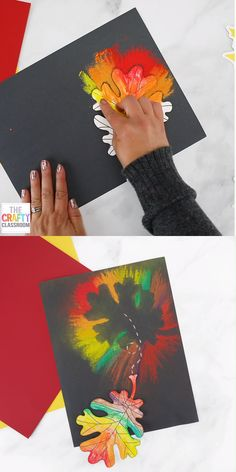 fall art projects for kids Create this stunning Fall Leaf to celebrate the Fall Season! Students use Chalk Pastels and our free leaf template to create this colorful art project. Simple for all ages and looks beautiful. Fall Crafts For Toddlers, Toddler Crafts, Preschool Crafts, Diy Crafts For Kids, Art For Kids, Kid Art, Autumn Art Ideas For Kids, Art Videos For Kids, Art Girl