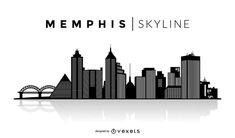 You can see the most important buildings and it also says Memphis Skyline over the silhouette. Skyline Silhouette, Silhouette Vector, Silhouette Design, Memphis Skyline, Memphis City, Memphis Tattoo, State Tattoos, Skyline Tattoo, Los Angeles Skyline