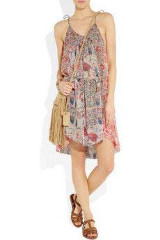 Isabel Marant Vick printed silk-georgette dress