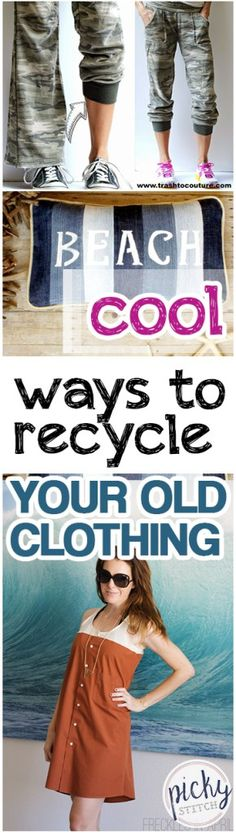 How to Recycle Your Old Clothing, Upcycle Your Old Clothing, DIY Clothing Hacks, DIY Clothing Upcycles, How to Upcycle Clothing, SImple Ways to Upcycle Old and Ruined Clothes