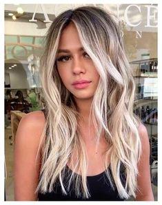 Dark Roots Blonde Hair Balayage, Platinum Blonde Balayage, Blonde Hair With Roots, Ash Blonde Balayage, Cool Blonde Hair, Beige Blonde, Hair Color Balayage, Brown Hair With Blonde Highlights, Color Highlights