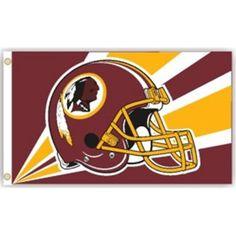 Washington Redskins 3'x5' Helmet Design Flag
