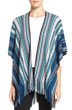 Missoni Fringe Zigzag Cape available at #Nordstrom