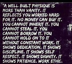 A well built physique
