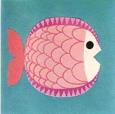 """Pescado blanco, """"Cartilla escolar de Alimentación""""1973 de F. Martínez Chávez"""