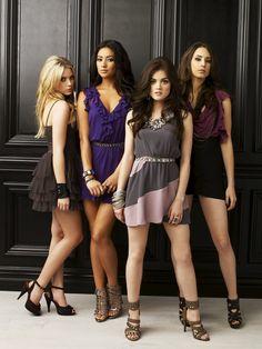 "Pretty Little Liars S1 Cast: Troian Bellisario as ""Spencer,"" Ashley Benson ""Hanna"" Lucy Hale ""Aria,"" Shay Mitchell ""Emily"""