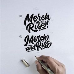 Merch and Rise - Design by @maseiqbal Follow us for daily logo design inspiration @logotorque on instagram Graffiti Lettering, Brush Lettering, Hand Lettering, Typography, Calligraphy Letters Design, Lettering Design, Script Logo, Letter Logo, Logo Design Inspiration