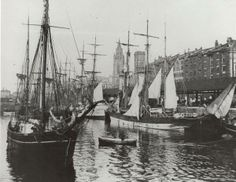 Liverpool , Georges dock . Liverpool Waterfront, Liverpool Town, Liverpool Docks, Liverpool History, Scotland History, Holiday Resort, Southport, The Good Old Days, Fishing Boats