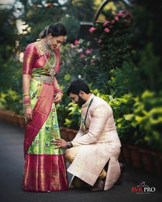 """RVRPRO on Instagram: """"A sure sign of a Man who is going to be there for his Partner! Such a lovely sight of this couple! . . Nikitha❤️Kranthi . #rvrpro…"""" Tamil Wedding, Bridal Silk Saree, Silk Sarees, Sari, Family Get Together, Pink Design, Mens Fashion, Photo And Video, Couples"""