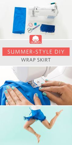 With this cotton wrap skirt tutorial from @britandco, you're only 6 steps away from achieving your style goals.