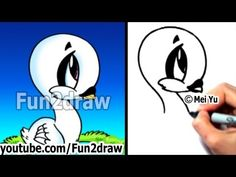 Real Time Drawing Tutorial - How to Draw a Bird - Cute Dove! - Draw Animals - Fun2draw - YouTube