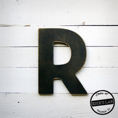 Mid Century Architectural Style Wood R Letter by EdiesLab on Etsy, via Etsy.