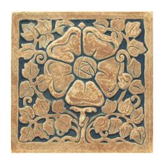 Tudor Rose Tile - Handmade reproduction tile inspired by Ernest Batchelder's Arts Crafts tiles. Batchelder tiles were made in Pasadena and Los Angeles from 1909 to Art Nouveau Tiles, Tudor Rose, Vintage Tile, California Art, Clay Tiles, Arts And Crafts Movement, Arts And Crafts Projects, Tile Art, Antique Art