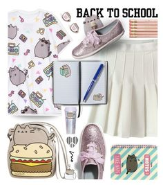 """""""#PVxPusheen"""" by wannanna ❤ liked on Polyvore featuring CO, Pusheen, Smythson, Miss Selfridge, Keds, BackToSchool, contestentry, schooloutfit and PVxPusheen"""