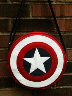 Captain America, shield round bag, purse with adjustable strap, costume, cosplay,