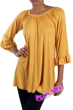 12c0d45884d Kelly Brett Boutique  Women s Online Clothing Boutique - Plus Size Southern  Tunic Mustard