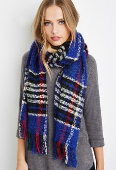 Loop Knit Plaid Scarf | Forever 21 - 1000142672
