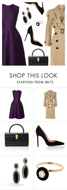 """""""Cocktail Party"""" by dressedbyrose ❤ liked on Polyvore featuring Reem Acra, Burberry, Judith Leiber, Gianvito Rossi, John Hardy, Selim Mouzannar, ootd, cocktaildress, trenchcoat and polyvoreeditorial"""