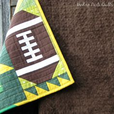Packers football quilt