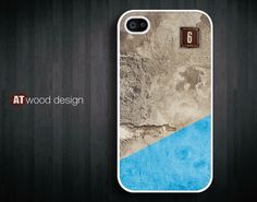iphone 4 case iphone 4s case iphone 4 cover iphone case old wall and modern colors design. $13.99, via Etsy.
