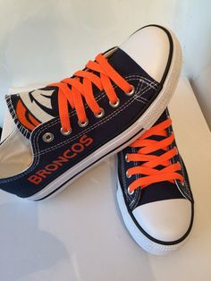 Denver Broncos womens tennis shoes by Sportzfanatics on Etsy