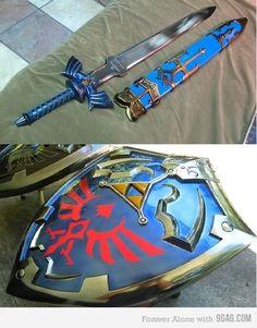 Master sword Hylian shield