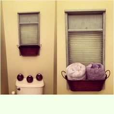 Washboard and a small tin basket from michaels. (Could also get one from a dollar store probably) duck egg blue chalk paint. Used for extra hand towels. Could also use in laundry room for socks that are missing a buddy