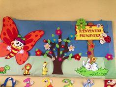 34 Ideas de decoración de Primavera - Educación Preescolar - Alumno On Kids Crafts, Camping Crafts For Kids, Bunny Crafts, Diy And Crafts, Arts And Crafts, Paper Crafts, School Board Decoration, School Decorations, Festival Decorations