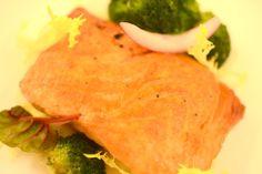 Salmone arrostito e torbato, crema di patate