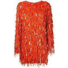 Ashish Ashish 'Casino' Sequin Dress featuring polyvore women's fashion clothing dresses vestidos red cocktail dress short sequin cocktail dresses sequin cocktail dresses short cocktail dresses long sleeve short dress