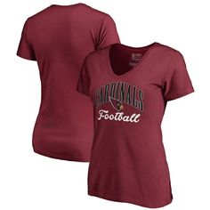 Arizona Cardinals NFL Pro Line by Fanatics Branded Women's Victory Script Plus Size V-Neck T-Shirt - Cardinal