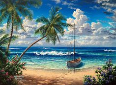 DIY Diamond Painting Blue sea View full Square Diamond embroidery Kits Pictures of crystals home deocr diy diamant malerei blaues meer Volle quadratmeter diamant Diamond Drawing, 5d Diamond Painting, Landscape Art, Landscape Paintings, Pictures Of Crystals, Crystals In The Home, Blue Crystals, Image Nature, Pictures To Paint