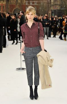 Clemence Poesy's Parisian-chic take on Fall.