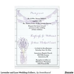 Lavender and Lace Wedding Collection Card