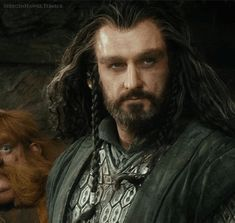 Majestic Thorin emerging from Beornes' house