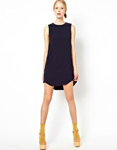 Image 4 of Mademoiselle Tara Shift Dress with Panelled Details. Easy and chic with tights and booties
