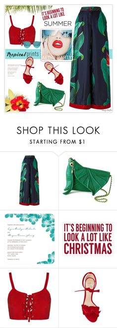 """""""It's beginning to look a lot like Summer, Nah! Let me enjoy the rest of my Spring! =)"""" by mcheffer ❤ liked on Polyvore featuring F.R.S For Restless Sleepers, Rupaul, Sixtrees, Alexandre Birman, Boohoo, Summer, croptop, colorful and tropicalprints"""