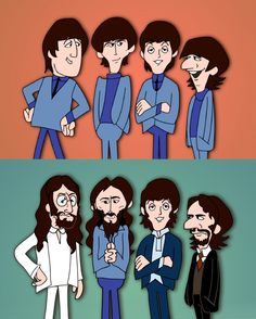 "emilybrymer: ""1964 Beatles vs. 1969 Beatles """